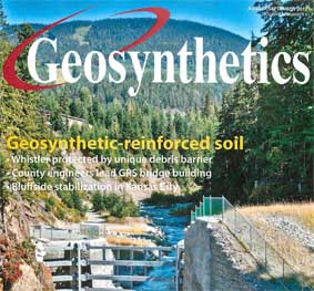 Fitzsimmons Creek Debris Barrier Featured in Geosynthetics Magazine